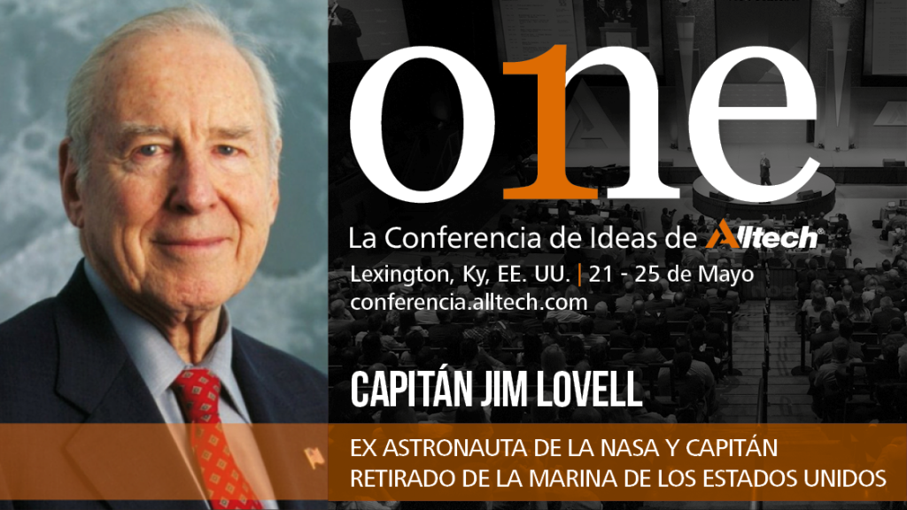 jim_lovell-comandante del Apolo 13-en one conferencia de ideas de alltech